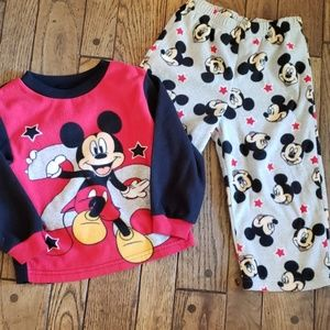 Fleece Mickey Mouse pajama set